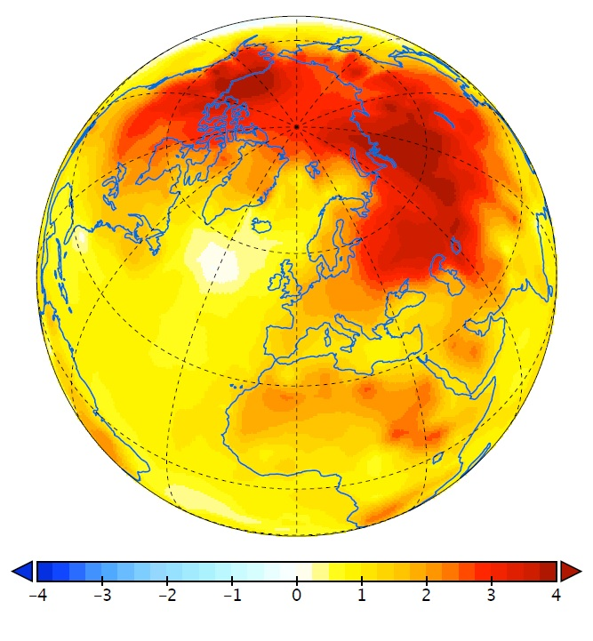 Amplification factor of observed surface temperatures