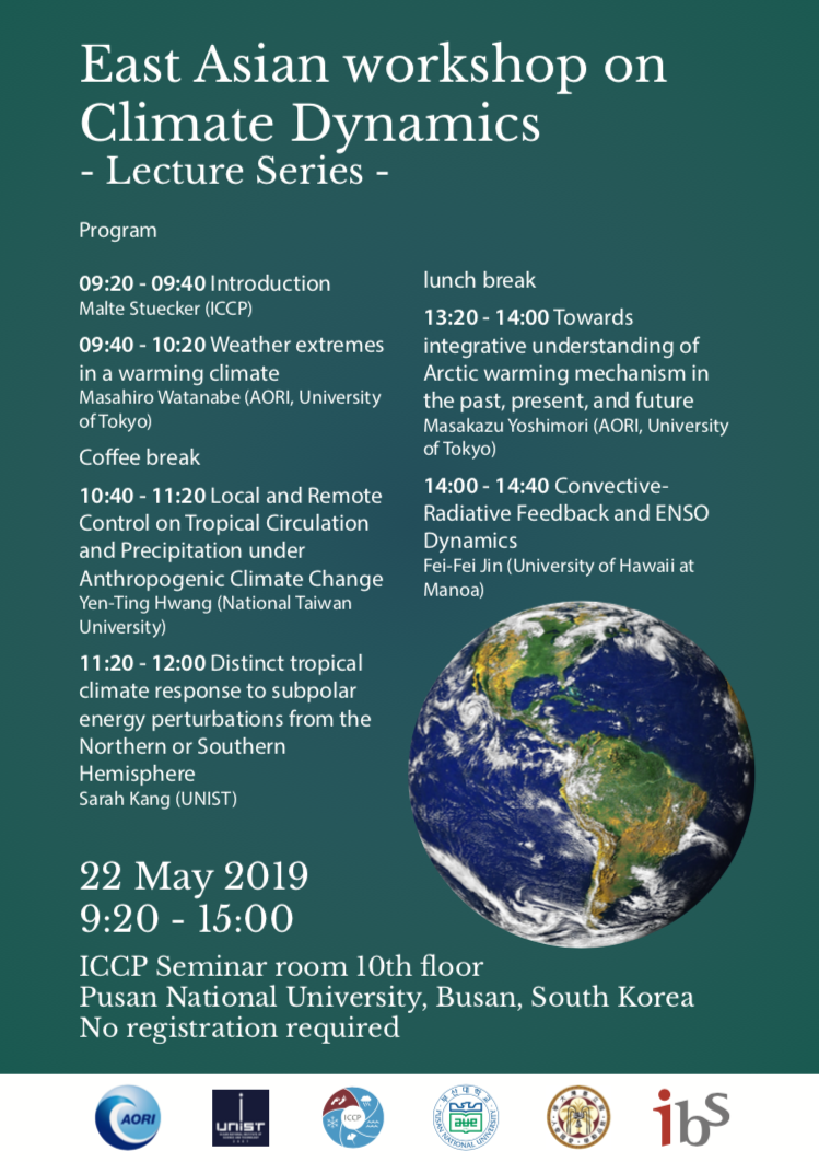 East Asian workshop on Climate Dynamics Flyer